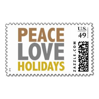 Peace Love Holidays Christmas Design Postage
