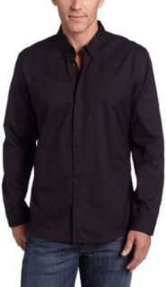 Calvin Klein Sportswear Mens Slim Fit Dobby Woven Shirt, Black, X Large at  Men�s Clothing store