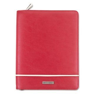 Day Runner Products   Day Runner   Deco Slim Profile Organizer, Undated Weekly/Monthly Pages, 5 1/2 x 8 1/2, Red   Sold As 1 Each   An inset stripe and fashion edge give this binder a sophisticated art deco appearance.   Includes three months of undated we