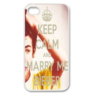 Retro Keep Calm And Marry Me Justin Bieber Cute WHITE Sides Case Skin Cover Faceplate Protector Accessory Vintage Retro Unique Comes in Case Cartel Packaging Cell Phones & Accessories