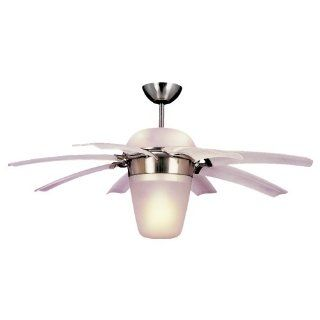 Monte Carlo 8ATR44BSD L Airlift 44 Inch 8 Blade Ceiling Fan, Brushed Steel Finish   Flower Ceiling Fan