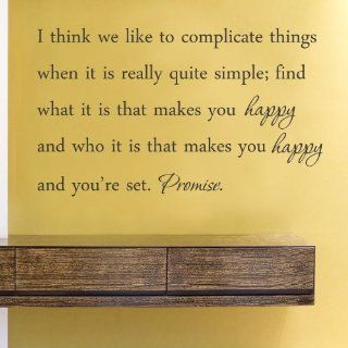 I think we like to complicate things when it is really quite simple Vinyl Wall Decals Quotes Sayings Words Art Decor Lettering Vinyl Wall Art Inspirational Uplifting   Wall Decor Stickers
