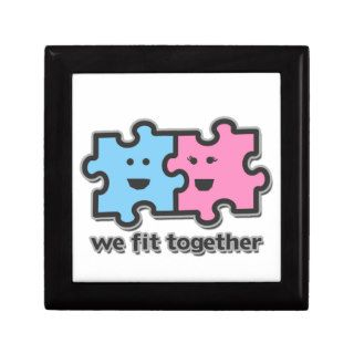 We Fit Together Puzzle Pieces Keepsake Boxes