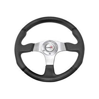 330mm Steering Wheel JDM Leather Look(Black) Automotive