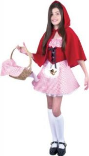Childs Short Little Red Riding Hood Costume Size Youth Large Clothing