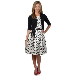 Jessica Howard Women's 2 piece Polka dot Dress Jessica Howard Evening & Formal Dresses