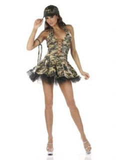 Sexy Army Military Girl Costume   SMALL Clothing