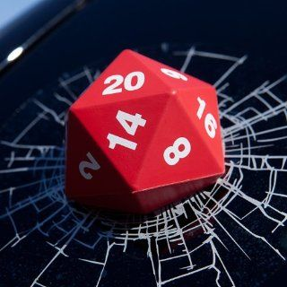 Critical Hit D20 3D Window Decal   Vinyl Decal Looks Like a D20 Smashed Your Window   A Natural d20 Toys & Games
