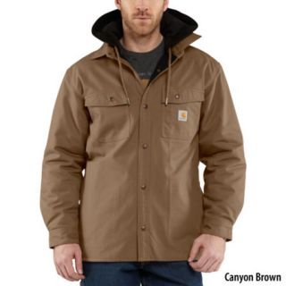 Carhartt Mens Quick Duck Roane Hooded Shirt Jac 755212