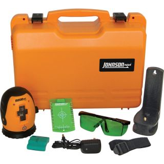 Johnson Level & Tool Self-Leveling Cross-Line Laser Level with GreenBrite Technology, Model# 40-6640  Laser Levels