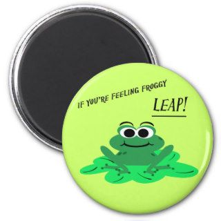 Cute Cartoon Frog Motivational Magnet