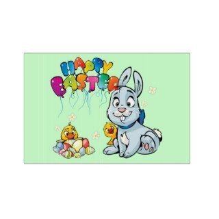 Happy Easter Cartoon Yard Sign