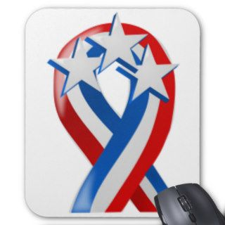 Stars and Stripes American Flag Ribbon Mouse Pads