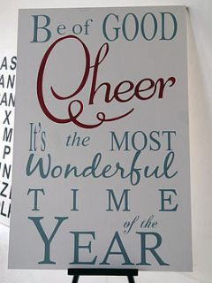 be of good cheer extra large sign by hush baby sleeping