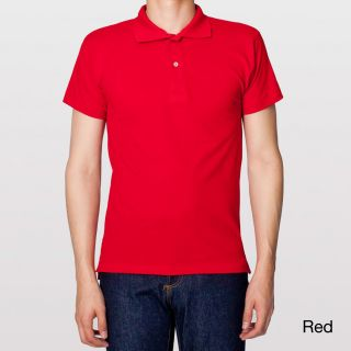 American Apparel American Apparel Mens Cotton Pique Shirt Red Size XS
