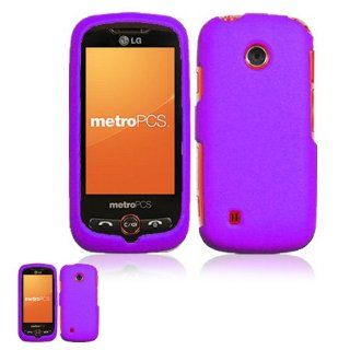 LG Beacon MN270 Rubberized Purple Snap On Case Cell Phones & Accessories