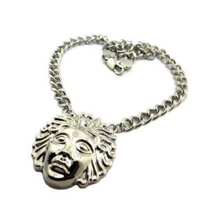 "Hot Nicki Minaj Medusa Head Pendant w/13mm 18"" Link Chain Necklace XC270 (Silver) Jewelry"