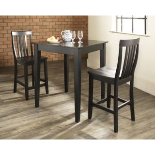 Powell Cafe Hamilton Pub Table in Matte Pewter and Bronze