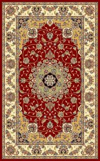 Lyndhurst Collection Red/ivory Area Rug (33 X 53)