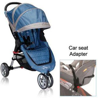 Baby Jogger City Mini Stroller in Blue Gray with Car Seat Adapter  Jogging Strollers  Baby