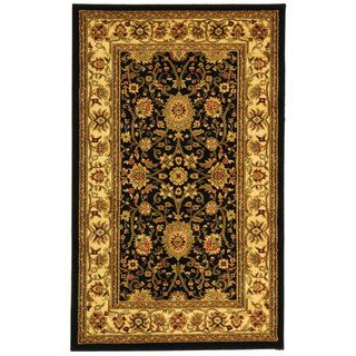 Lyndhurst Collection Majestic Black/ Ivory Rug (33 X 53)
