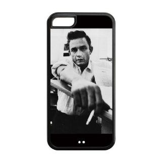 Super Star Hot Singer Johnny Cash TPU Inspired Design Case Cover Protective For Iphone 5c iphone5c NY281 Cell Phones & Accessories