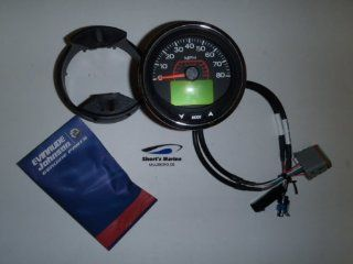"OEM Evinrude Johnson 3"" ICON Pro LCD 50 MPH Speedometer Kit, Chrome 766167  Sport Speedometers  Sports & Outdoors"