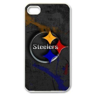 Custom Pittsburgh Steelers Cover Case for iPhone 4 4S PP 1489 Cell Phones & Accessories