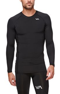 Mens Rvca T Shirts   Rvca Virus Compression Long Sleeve T Shirt