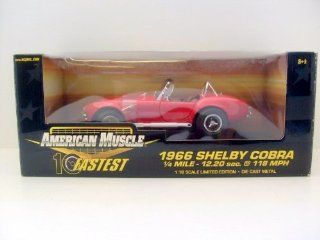 Ertl American Muscle 10 Fastest 32760 1966 Shelby Cobra Red 118 Scale Diecast Toys & Games