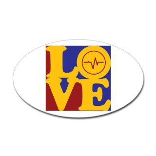 Biomedical Engineering Love Oval Sticker Sticker Oval   Standard   Wall Decor Stickers