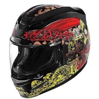 Icon Airmada Chainbrain Helmet , Distinct Name Black, Gender Mens/Unisex, Helmet Category Street, Helmet Type Full face Helmets, Primary Color Black, Size 3XL 0101 6540 Automotive