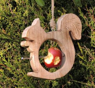 wooden squirrel bird feeder by alphabet interiors