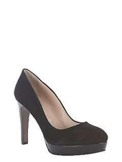 Mint Velvet Black suede court shoes Black
