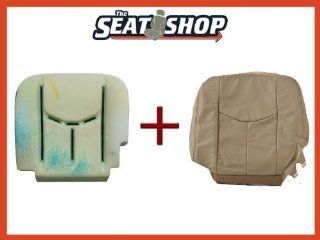 03 04 05 06 Chevy Tahoe GMC Shale Leather Seat Cover bottom & foam LH Automotive