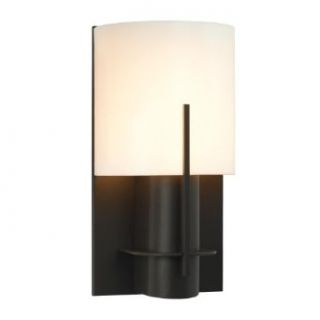 Sonneman 1710.32AF Oberon 1 Light Modern CFL Wall Sconce with Half Cylinder Shade   ADA Compliant, Black Bronze with Acrylic Shade