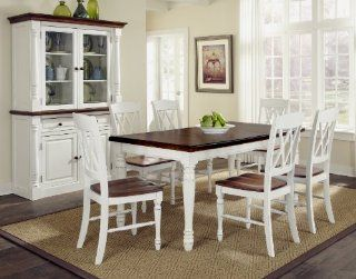 Shop Home Styles 5020 309 Monarch Rectangular Dining Table and Six Double X Back Chair at the  Furniture Store. Find the latest styles with the lowest prices from Home Styles