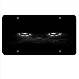 Black Cat   Car Tag License Plate Sports & Outdoors