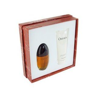 Obsession by Calvin Klein for Women   2 Pc Gift Set 1.7oz EDP Spray, 3.4oz Silkening Body Lotion  Fragrance Sets  Beauty