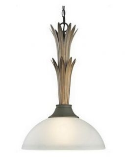 Las Cruces Collection One light Pendant in Painted Bronze Finish   Ceiling Pendant Fixtures