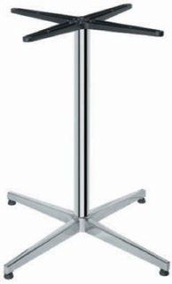 Hafele Pedestal Table Base, 26 3/4 inch W x 26 3/4 inch D x 28 3/8 inch H, Polished Aluminum