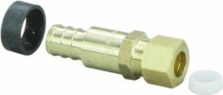 Viega 46331 PureFlow Zero Lead Brass PEX Crimp Lav Adapter with 1/2 Inch by 1/4 Inch Crimp x Lav   Pipe Fittings
