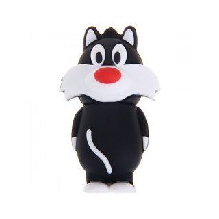 Manga & Comics Crazy Gadgets   Black Cat Cartoon 16 GB Usb Flash Drive   Sylvester