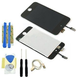 Repair Kit for Apple iPod Touch 4 4th Gen LCD Screen Replacement Digitizer Glass Assembly Cell Phones & Accessories