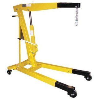 "Bear Claw Shop Crane Engine Hoist Non Foldable Telescopic Legs; Capacity 6, 000; Boom Length 51 7/8""; Boom Height 22"" to 84""; Overall Size (W x L) 31 3/4"" x 54 1/2""; Leg Extension 6 11/16""; Net Wt. (lbs.) 340; Model# BEH"