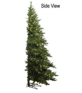 7.5' Pre Lit Westbrook Pine Artificial Half Wall Christmas Tree   Clear Lights