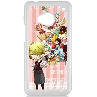 One Piece popular Anime Manga Cartoon Monkey D. Luffy Roronoa Zoro Sanji Chooper Comic HTC ONE M7 Hard plastic Black or White case (White) Cell Phones & Accessories