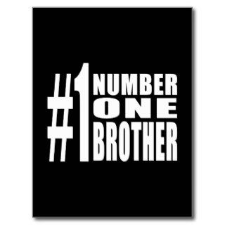 #1 Brothers Birthdays Christmas Number One Brother Postcard