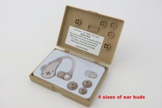 Personal Sound Amplifier. The most affordable with best quality hearing helper. Behind The Ear, Easy To Use, Clear Sound, Fit Both Ears, Energy Saving Technology, with 4 ear buds (Large, Medium, Small and Mini) to fit most customers. New flexible tube best