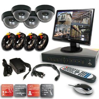 Orange Sources OC04P79803 4 CH CCTV Security DVR Indoor Dome Camera System 500GB HD Network Electronics